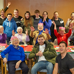 South Abingdon youngsters and parents put on a Christmas Bingo event for the elderly!