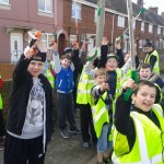 South Abingdon youngsters enjoying the community sweep!